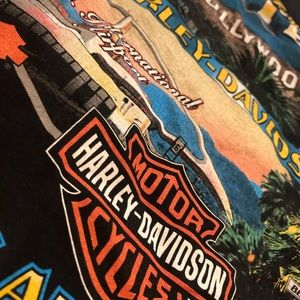 Los Angeles Ca screamin eagle Harley Davidson tee